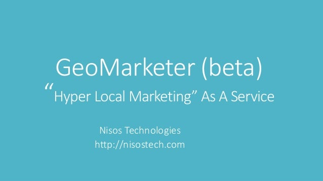 A platform for location-based marketing solutions