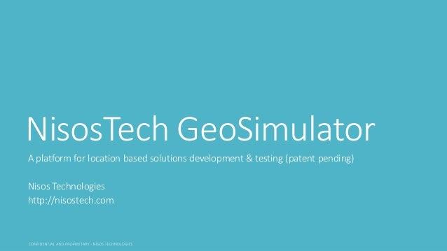 Location-Based Marketing Application Development Made Easier with GeoSimulator