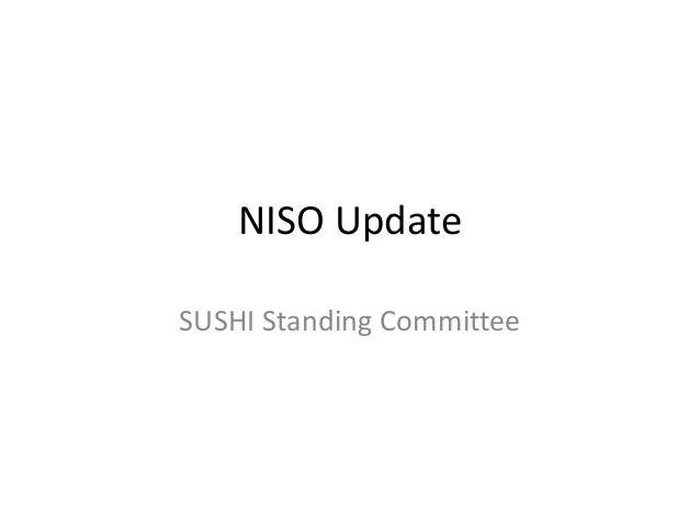 NISO Update June 2014 SUSHI