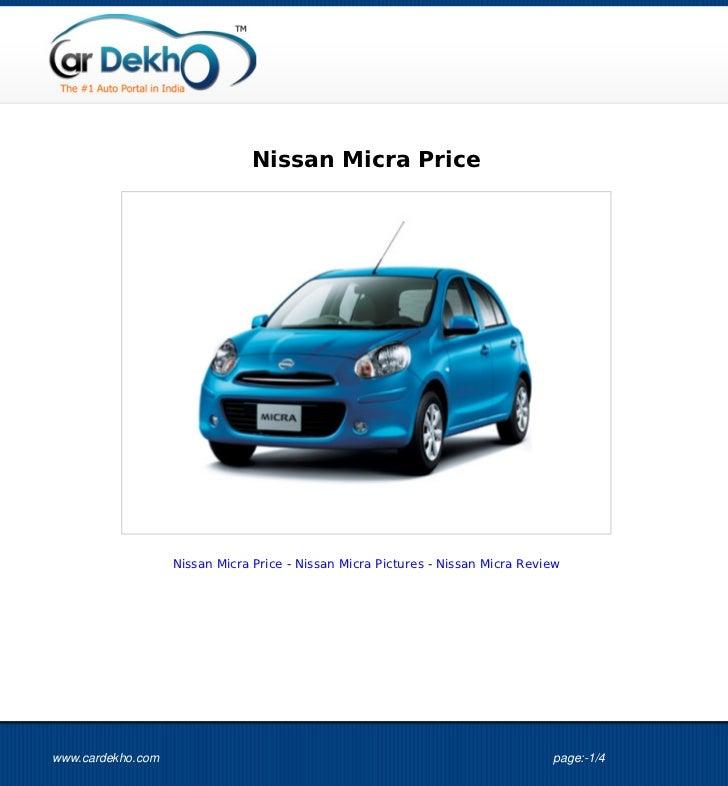 Nissan Micra Price 26Sep2012