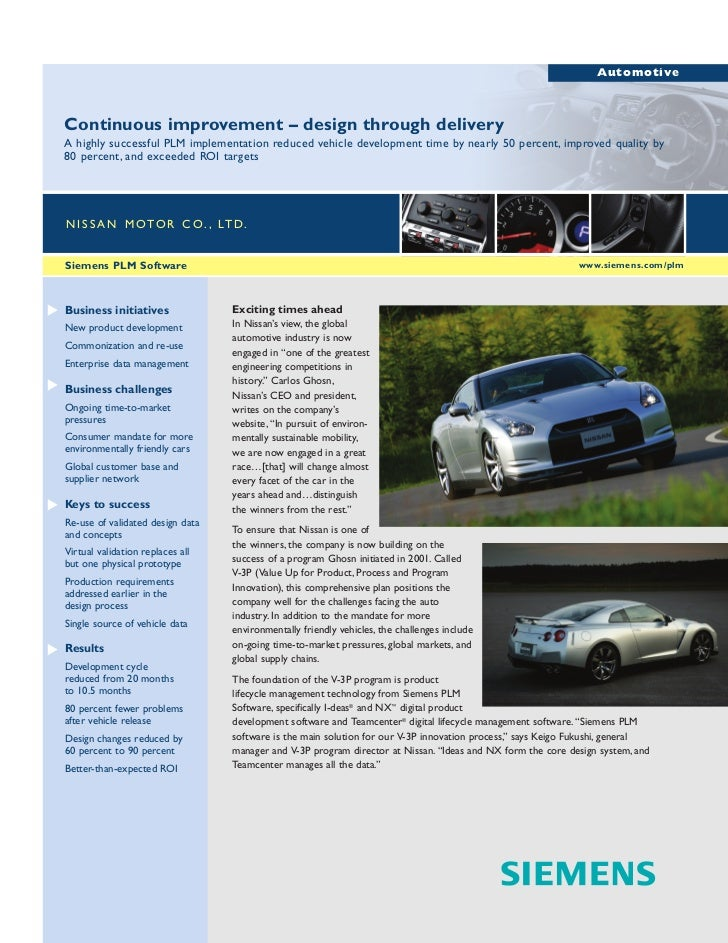 AutomotiveContinuous improvement – design through deliveryA highly successful PLM implementation reduced vehicle developme...