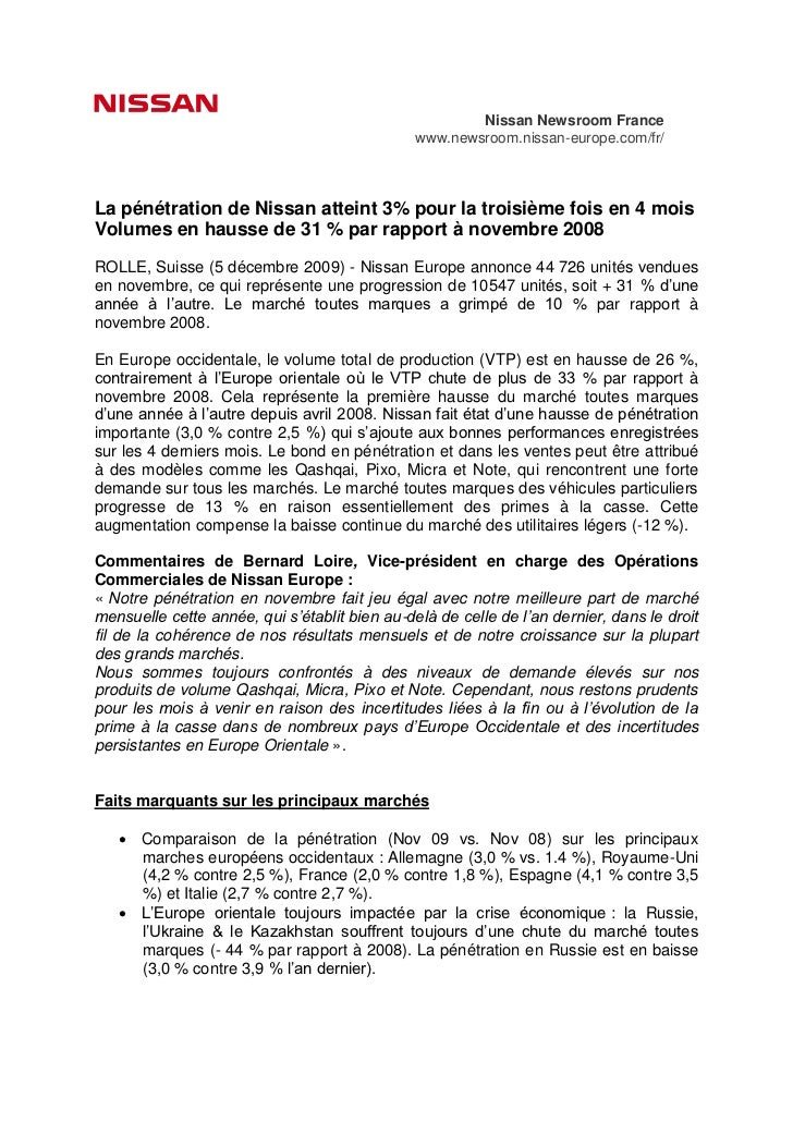 Nissan Newsroom France                                               www.newsroom.nissan-europe.com/fr/La pénétration de N...