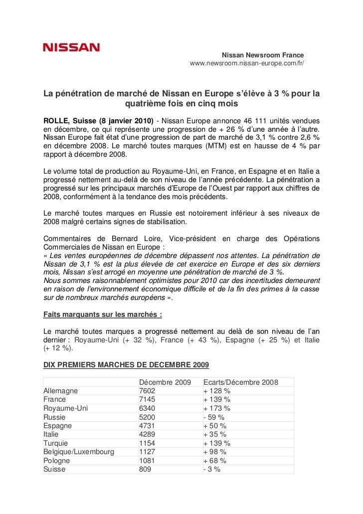 Nissan Newsroom France                                            www.newsroom.nissan-europe.com/fr/La pénétration de marc...