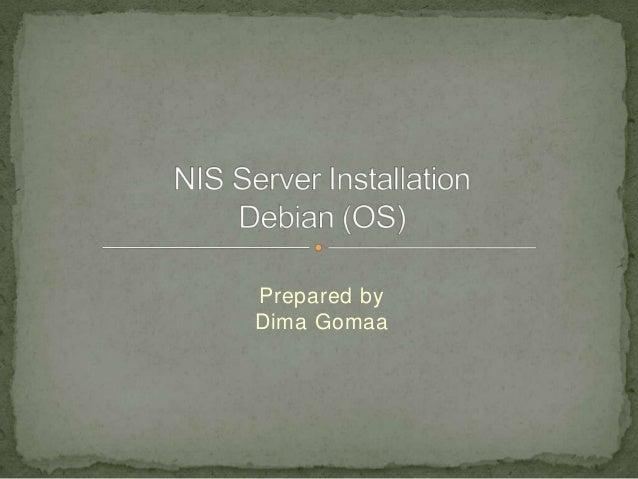 NIS server installation