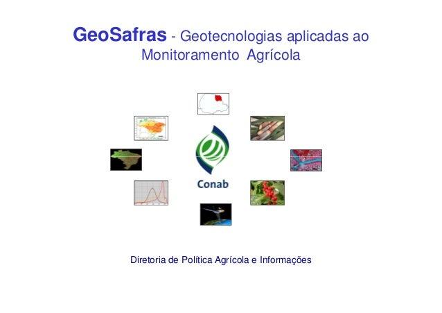 Lançamento NIT - Geotecnologias aplicadas ao Monitoramento Agrícola