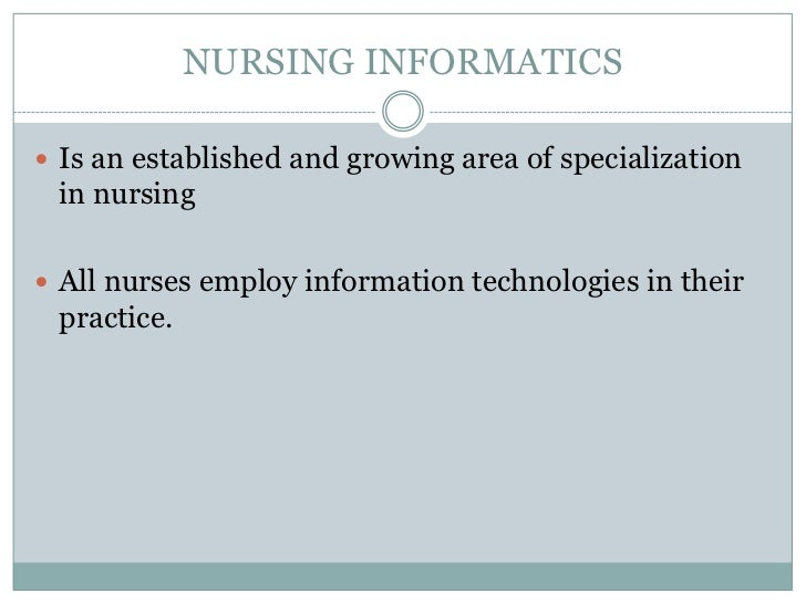 nursing informatics term papers Access health informatics data, publications  amia board white paper: definition of biomedical informatics and specification of core competencies for graduate.