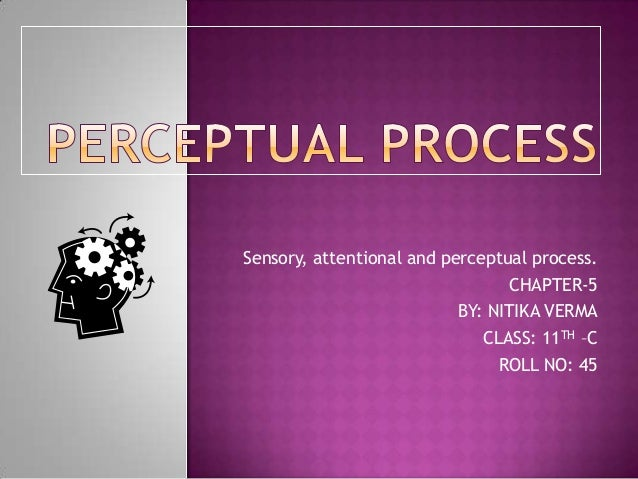 Sensory, attentional and perceptual process. CHAPTER-5 BY: NITIKA VERMA CLASS: 11TH –C ROLL NO: 45