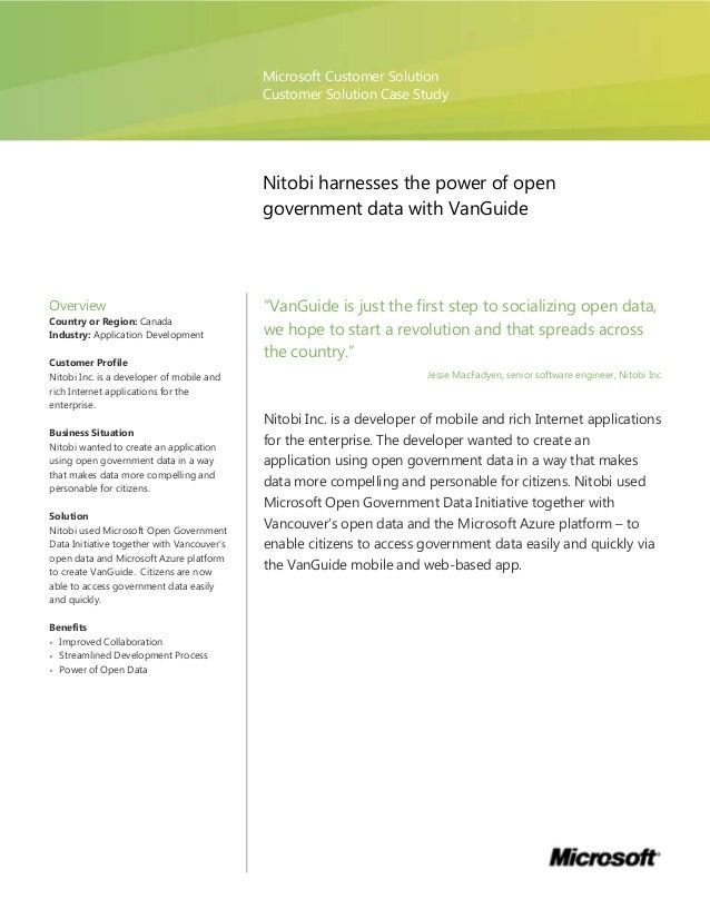 Case Study | Nitobi / VanGuide