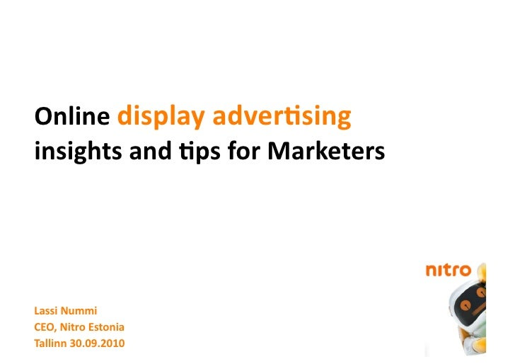 Online display advertising insights and tips for Marketers