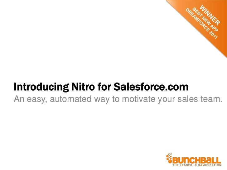 Introducing Nitro for Salesforce.comAn easy, automated way to motivate your sales team.