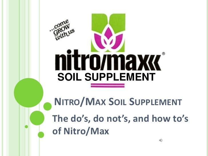 Nitro Max Presentation