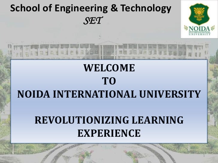 About School of Engg. and Tech. - NIU