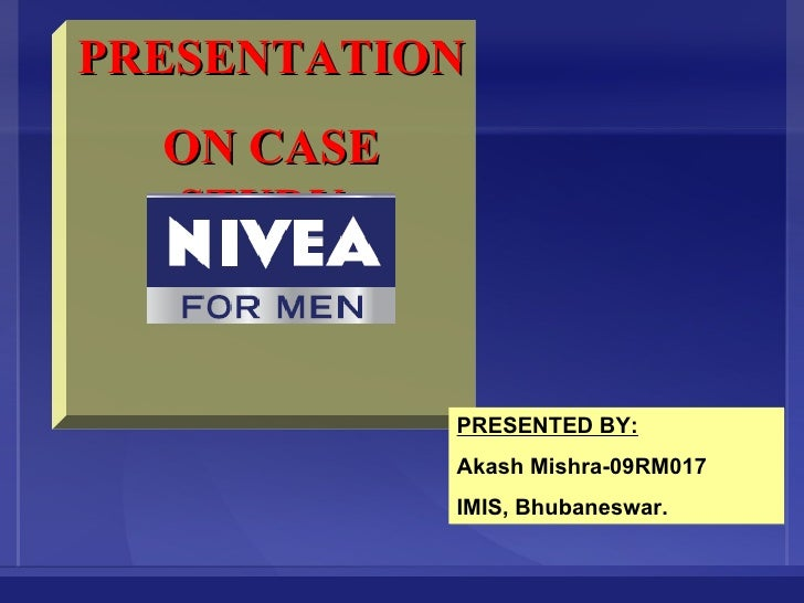 Nivea For Man Marketing Plan for Re Lunch the Product