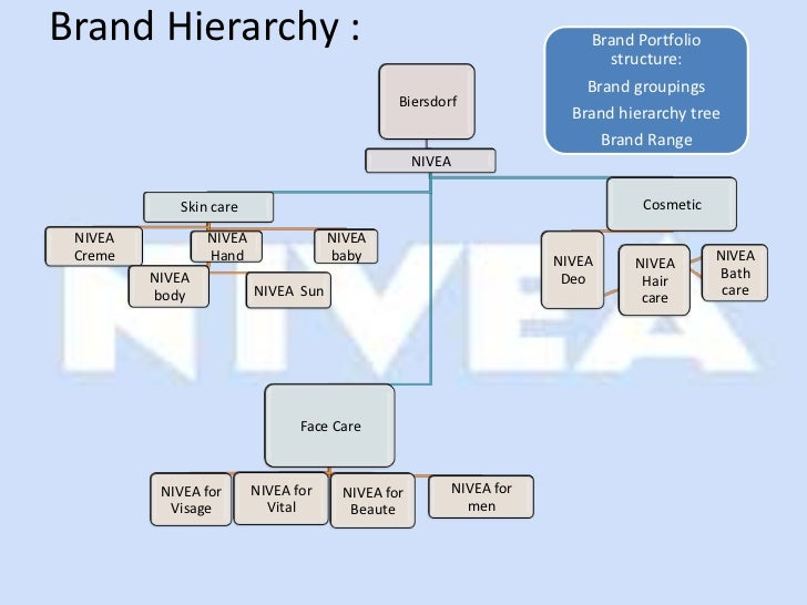 brand portfolio and brand hierarchy A brand hierarchy is a means of summarizing the branding strategy by displaying the number and nature of common and distinctive brand elements across the firm's products, revealing the explicit ordering of brand elements.