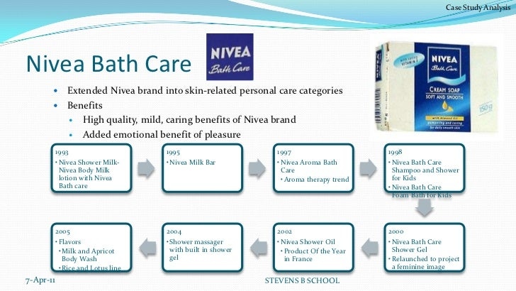 nivea case study answers Nivea case study on the 'nivea for men' case study 1 describe the 'nivea for men' product range nowadays, nivea is a famous brand of skin & beauty care in the world the range of men's products was launched in 1980 with an aftershave balm this first product without alcohol (which irritate the skin) becomes quickly successful.