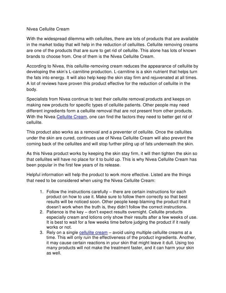 Nivea Anti Cellulite Cream Reviews Nivea Cellulite Cream