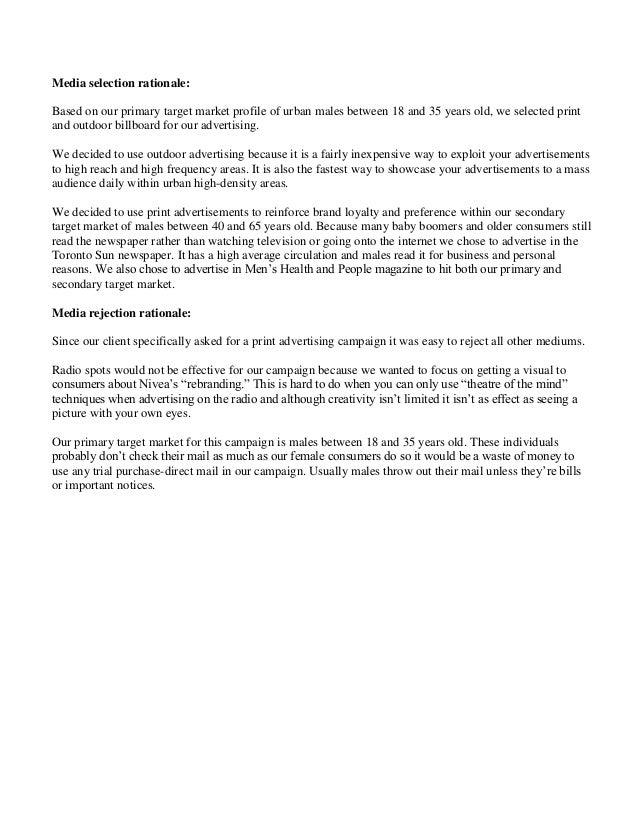College Custom Essay on Nivea Marketing Case Study