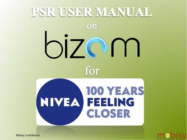 Bizom for PSRs User Manual