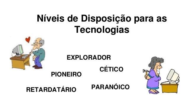 Níveis de Disposição para as  Tecnologias  EXPLORADOR  PIONEIRO  CÉTICO  RETARDATÁRIO PARANÓICO