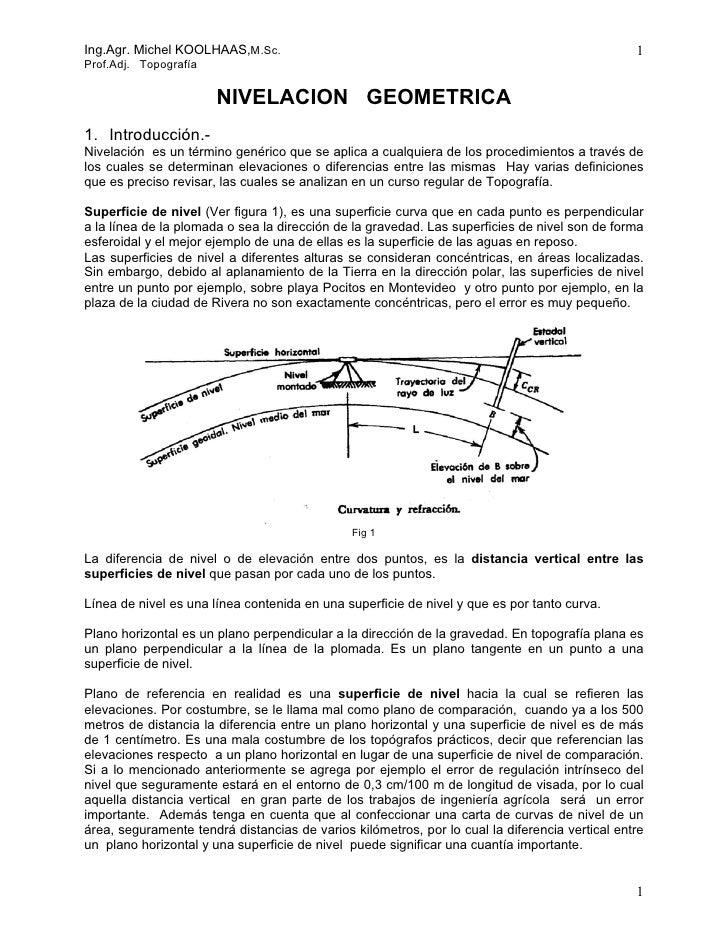 Ing.Agr. Michel KOOLHAAS,M.Sc.                                                                  1Prof.Adj. Topografía     ...