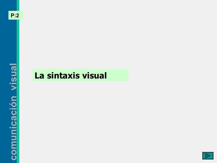 La sintaxis visual