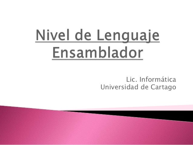 Lic. InformáticaUniversidad de Cartago