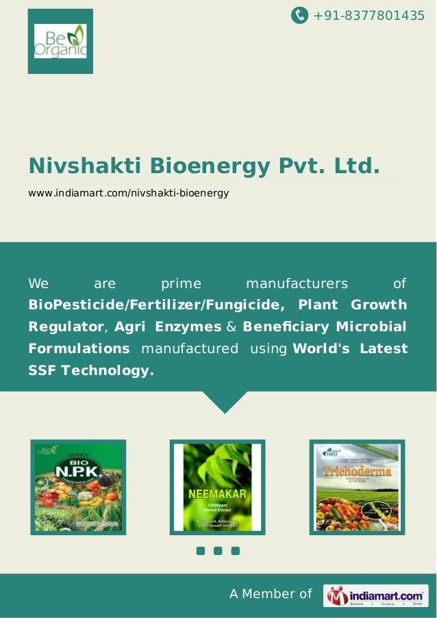 Nivshakti Bioenergy Pvt. Ltd., Kolkat, ORGANIC AGRICULTURAL PRODUCTS