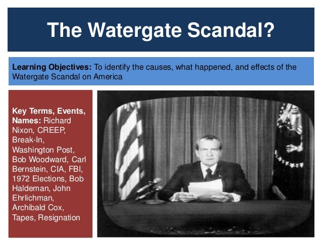 What was the watergate scandal and what was its effect on American politics - Essay Example
