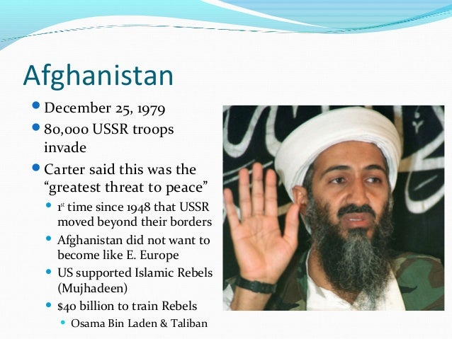 "AfghanistanDecember 25, 197980,000 USSR troops invadeCarter said this was the ""greatest threat to peace""   1st      ti..."