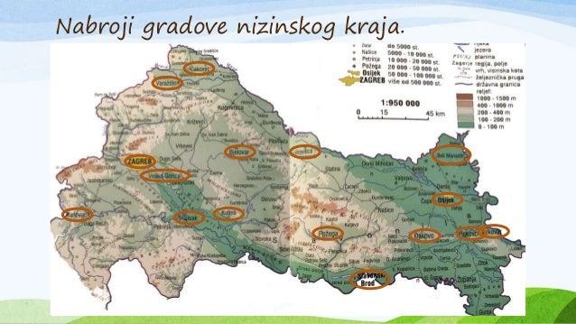 Nizinska Hrvatska Karta Karta