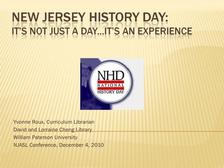 History Day: It's not just a day, it's an experience