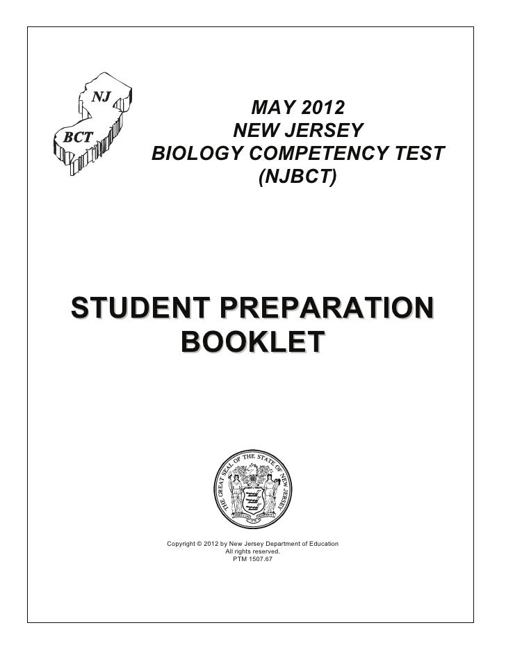 Biology Exam Student Preparation Booklet