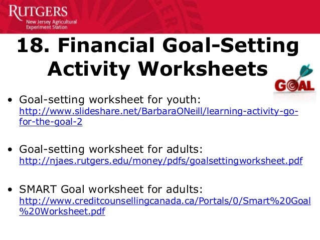 Printables Financial Goal Setting Worksheet goal setting worksheet for high school students pdf 9th grade 50 creative ways to teach personal finance 11 14