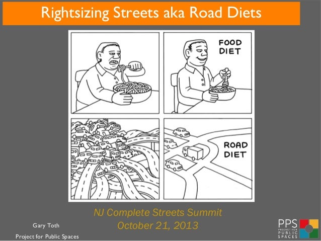 Rightsizing Streets aka Road Diets  Gary Toth Project for Public Spaces  NJ Complete Streets Summit October 21, 2013