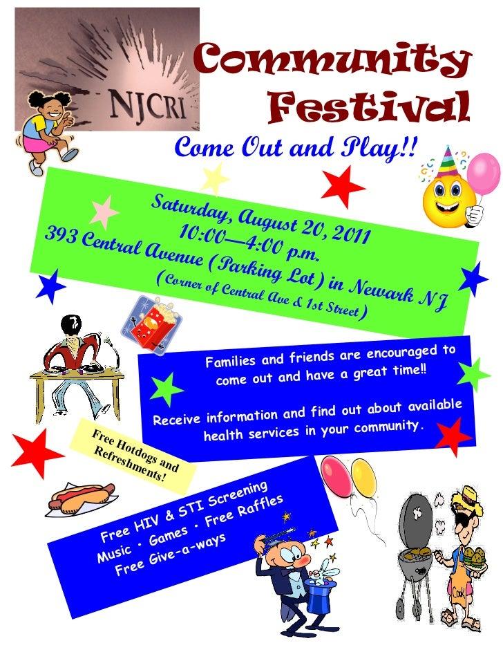 Njcri community festival  2011 flyer