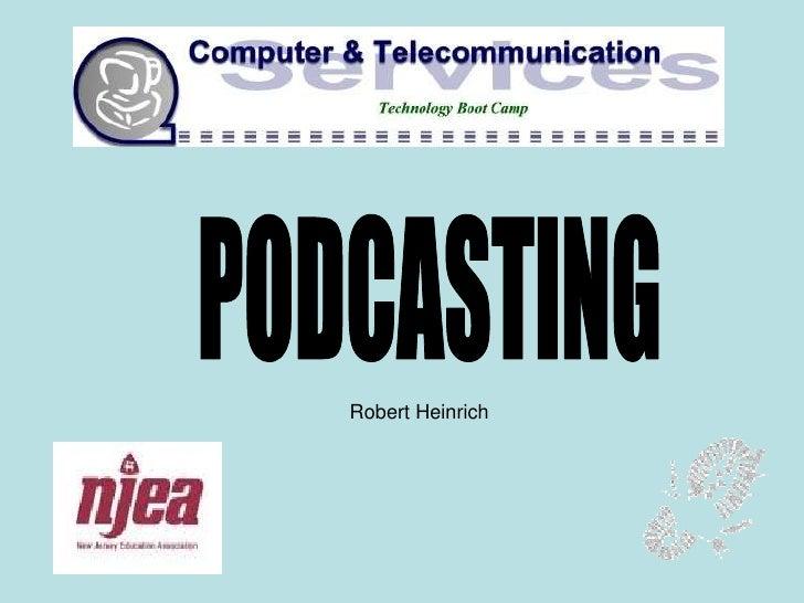 NJEA Podcasting Workshop