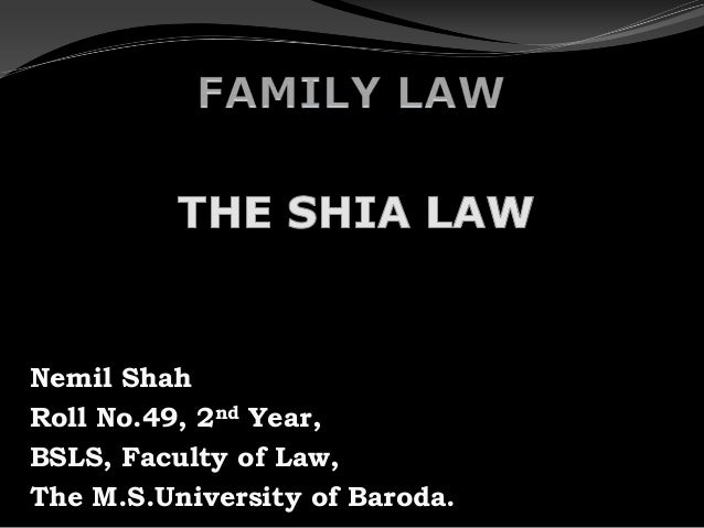 Nemil ShahRoll No.49, 2nd Year,BSLS, Faculty of Law,The M.S.University of Baroda.