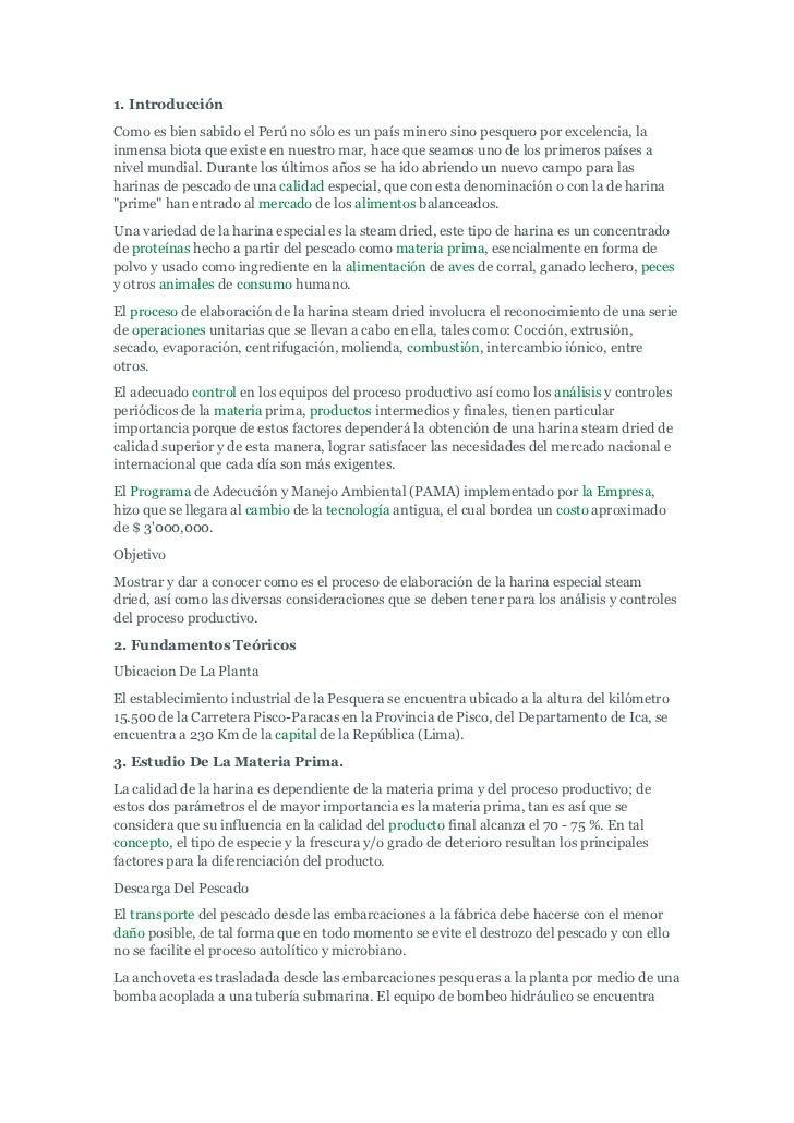 1. IntroducciónComo es bien sabido el Perú no sólo es un país minero sino pesquero por excelencia, lainmensa biota que exi...