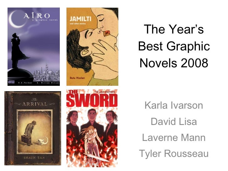 The Best Graphic Novels of 2008