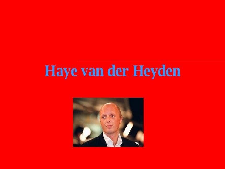 Haye van der Heyden