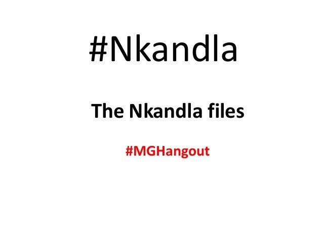 #Nkandla The Nkandla files #MGHangout
