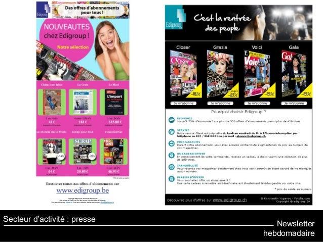 Newsletter hebdomadaire Secteur d'activité : presse