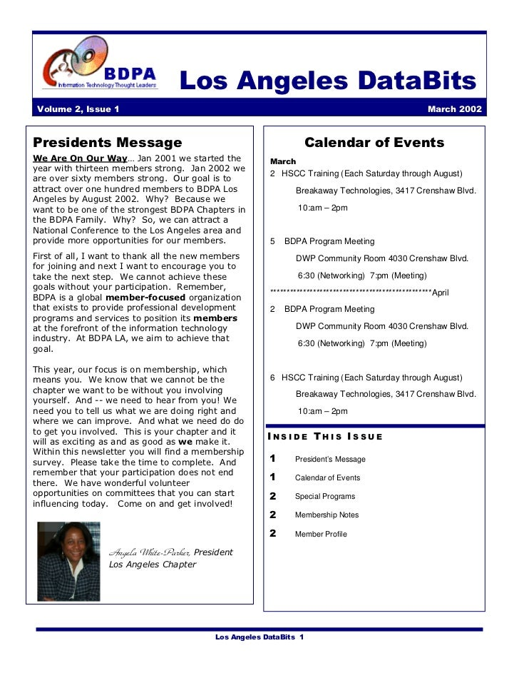 Newsletter: BDPA Los Angeles (Mar 2002)