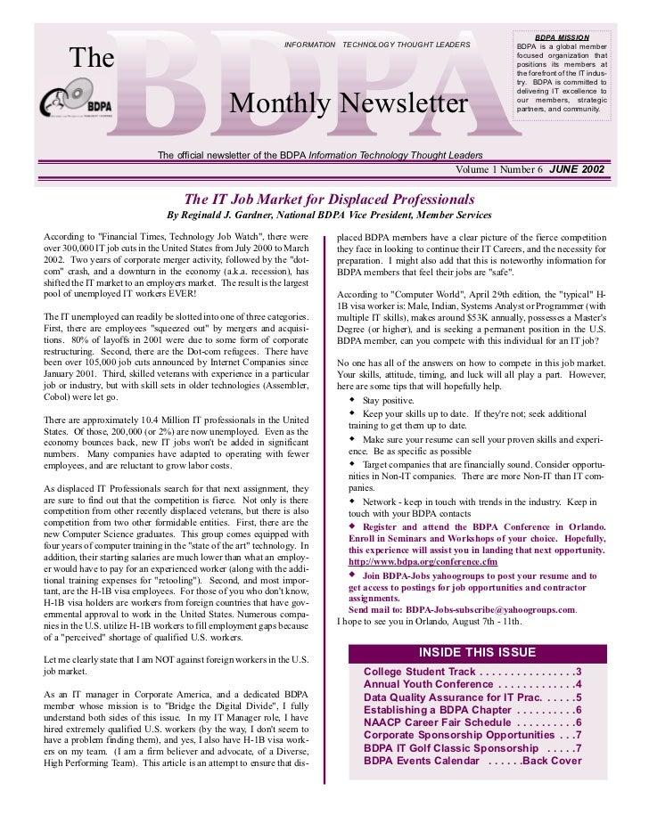 Newsletter: National BDPA (Jun 2002)