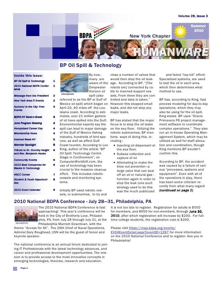 Newsletter: BDPA New York (Jun 2010)