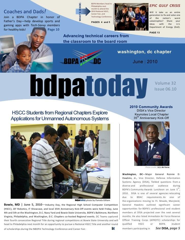 WHAT'S INSIDE:                                                                                       BDPA Members head to ...