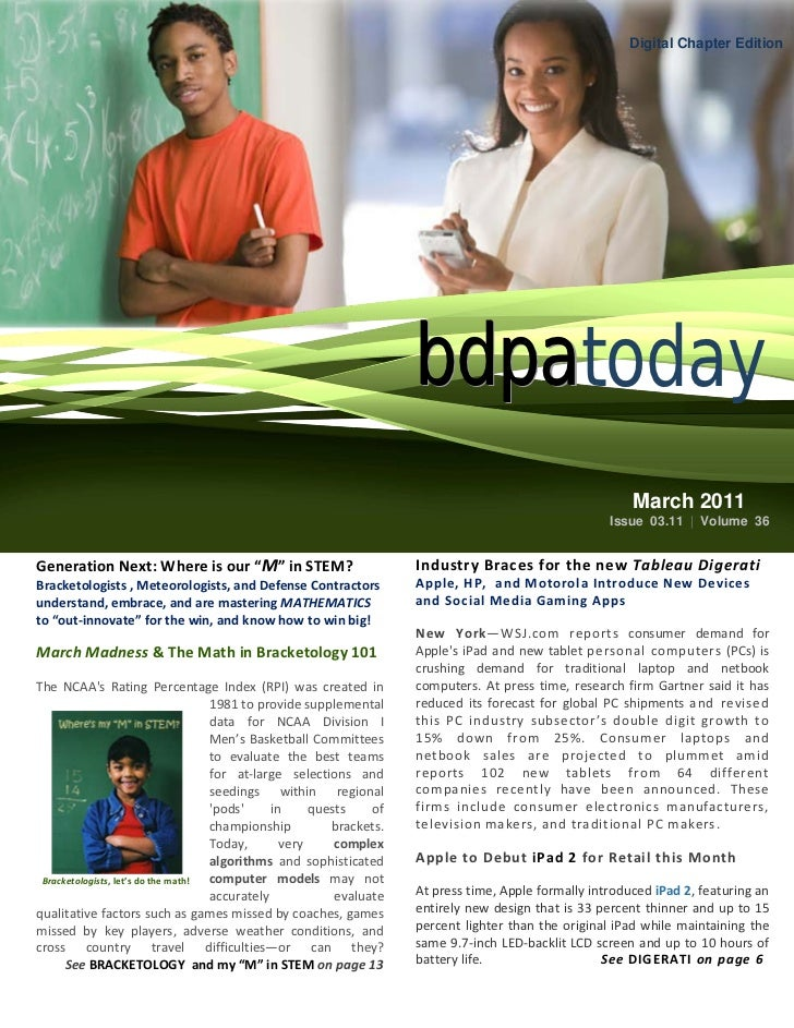 Digital Chapter Edition                                                                       bdpatoday2011 IT Showcase & ...