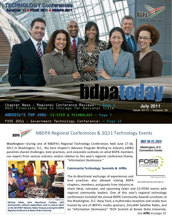 TECHNOLOGY ConferencesTECHNOLOGY ConferencesTeraGriid ''11  FOSE 2011  NBDPA 2011TeraGr d 11  FOSE 2011  NBDPA 2011Ch...