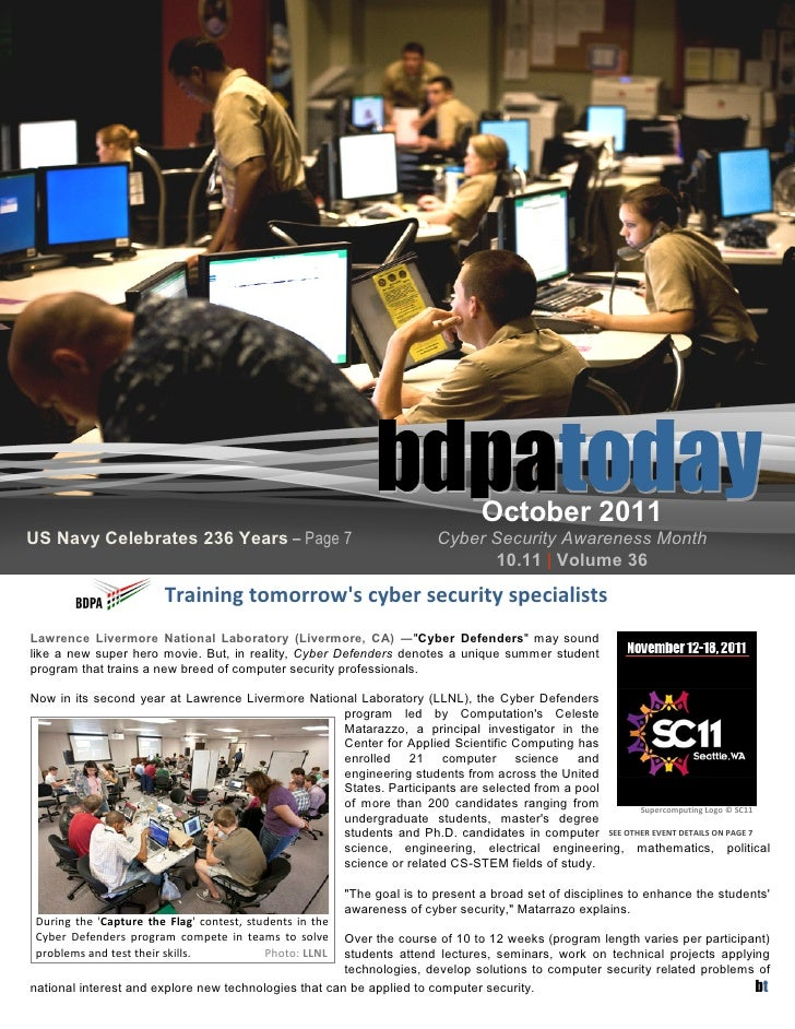 October 2011US Navy Celebrates 236 Years – Page 7                                     Cyber Security Awareness Month      ...