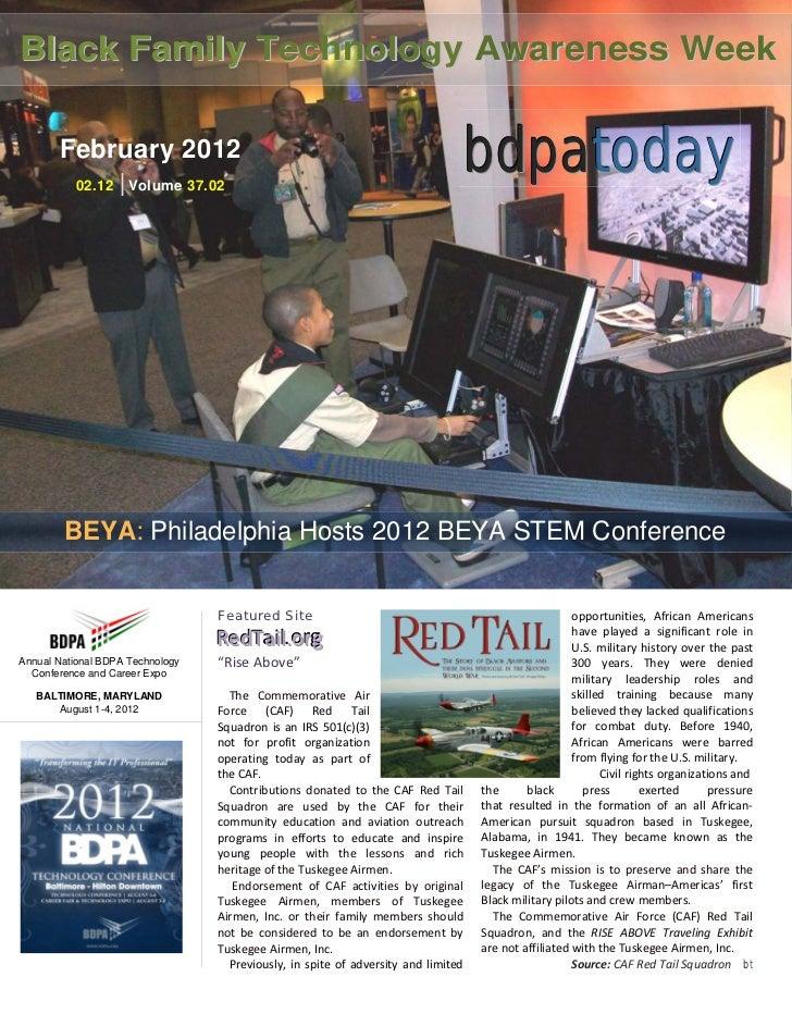 Black Family Technology Awareness Week       February 2012          02.12    | Volume 37.02                               ...